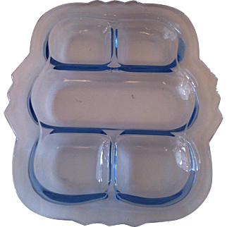Decagon Light Blue 5 Part Relish Dish ~ Cambridge