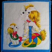 Dog & Puppy Child's Handkerchief