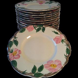 4-1950's B&B Plates ~ Desert Rose