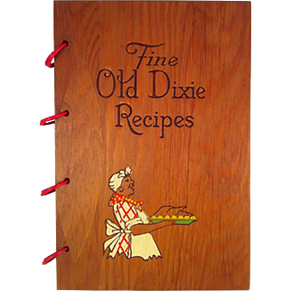 1939 Fine Old Dixie Recipes Cook Book