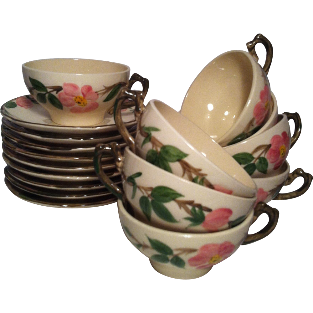 1949-53 Desert Rose Cup & Saucer by Franciscan