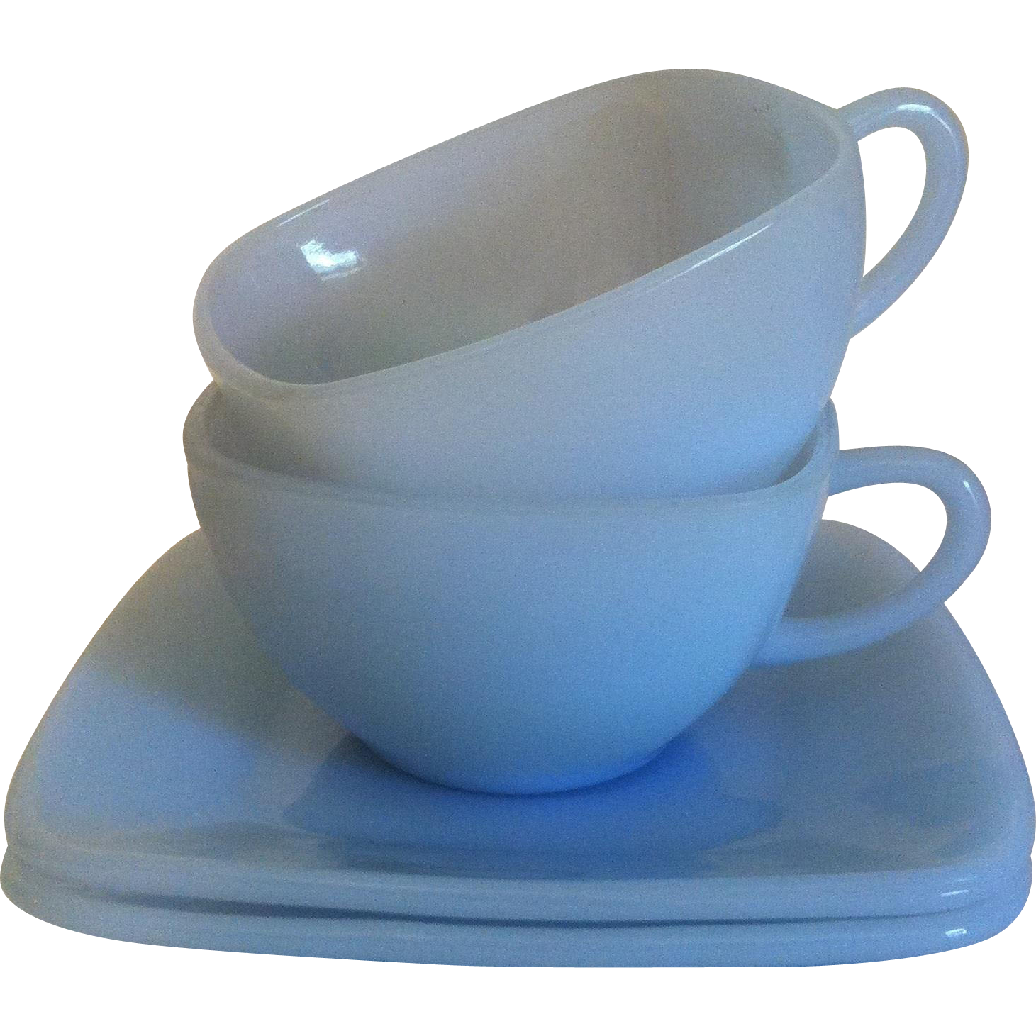 Fire King Azurite Charm Cup & Saucer