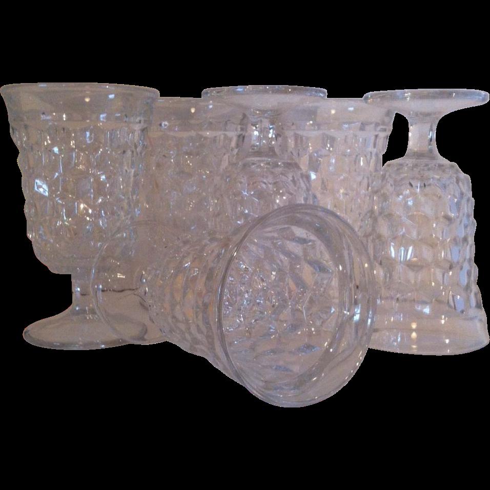 6 Fostoria American Low Water Goblets