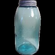 Applied Neck ~Ball Mason Triple L Canning Jar~ Aqua Blue