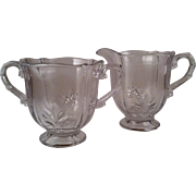 Baroque Clear Cream & Sugar Set ~ Fostoria
