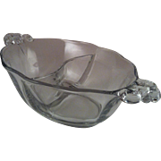 Baroque Clear Divided Mayonnaise Bowl ~ Fostoria