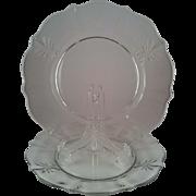 2 Baroque Clear Dinner Plates ~ Fostoria