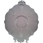 Baroque Clear Handled Cake Plate ~ Fostoria