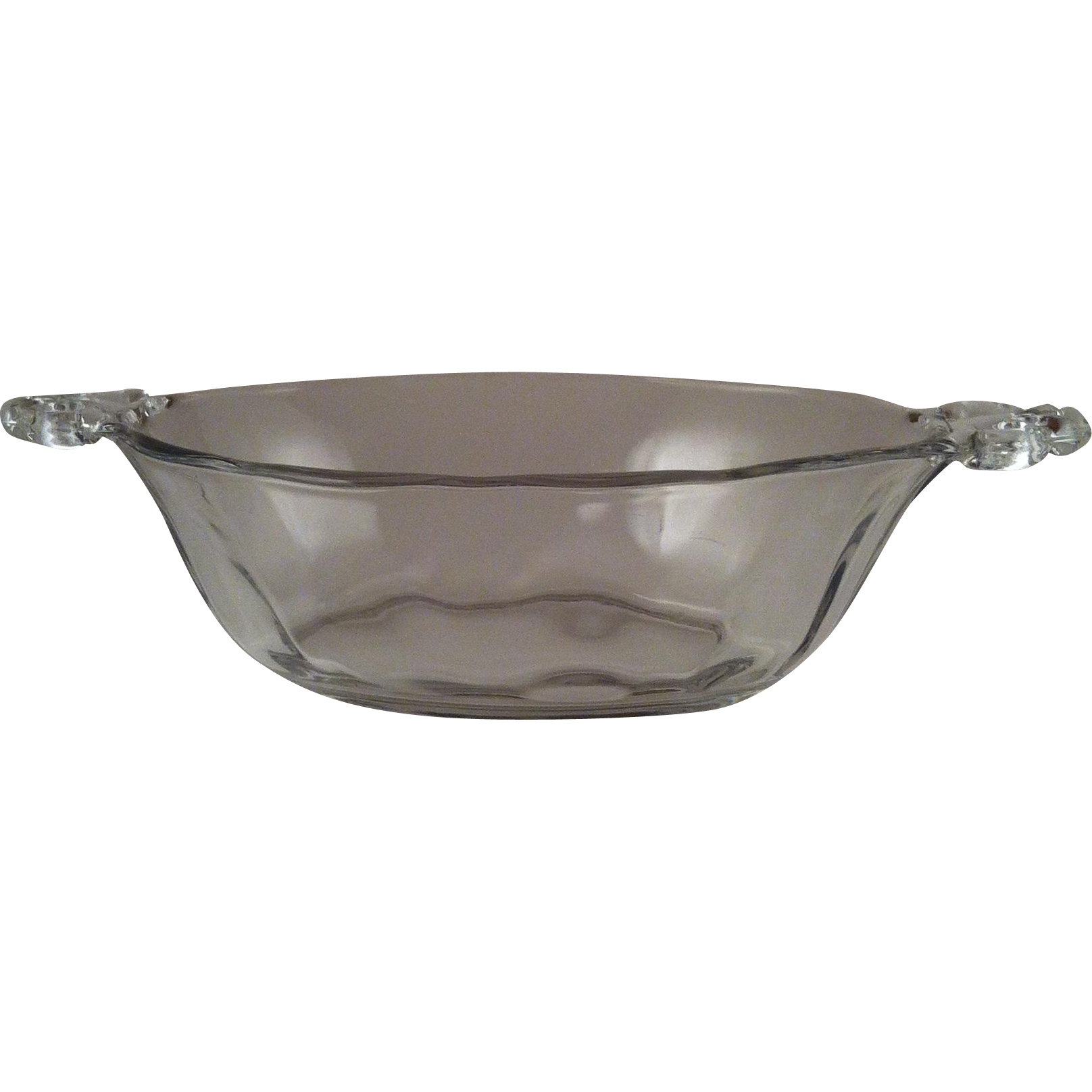 Baroque Clear Handled Sauce Boat ~ Fostoria