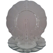 2 Baroque Clear Luncheon Plates - Fostoria