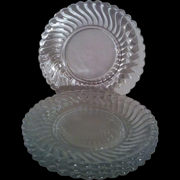 4 Colony B & B Plates ~ Fostoria
