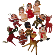 11 Flocked Vintage Christmas Ornaments