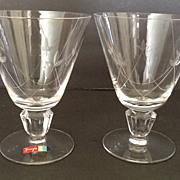 Fostoria Crest Water Goblets (2)
