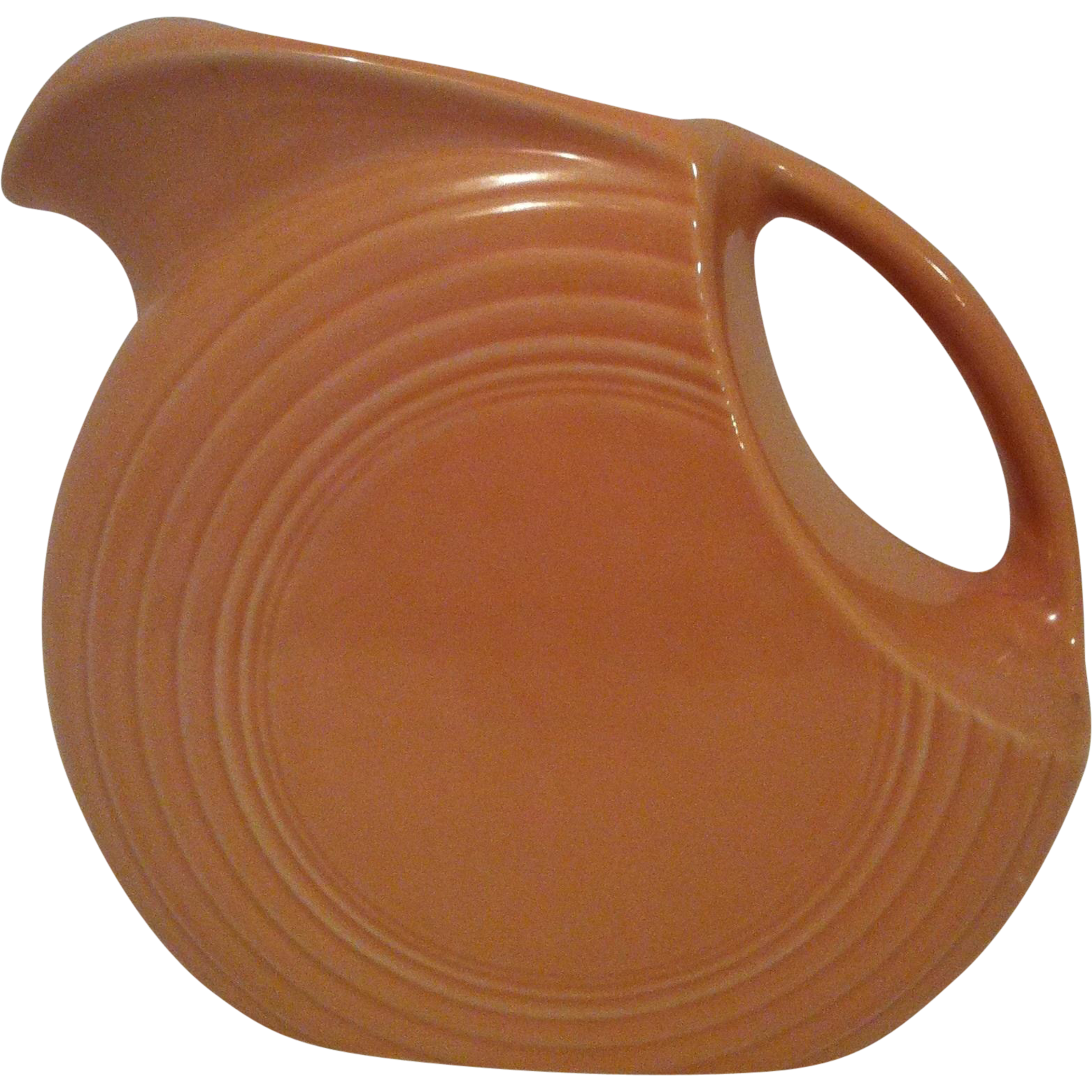 Apricot Fiesta Disk Pitcher