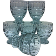 Alexandrite Fostoria Hermitage Wisteria Footed Tumblers (6)