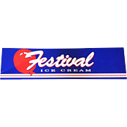 Festival Ice Cream Sign