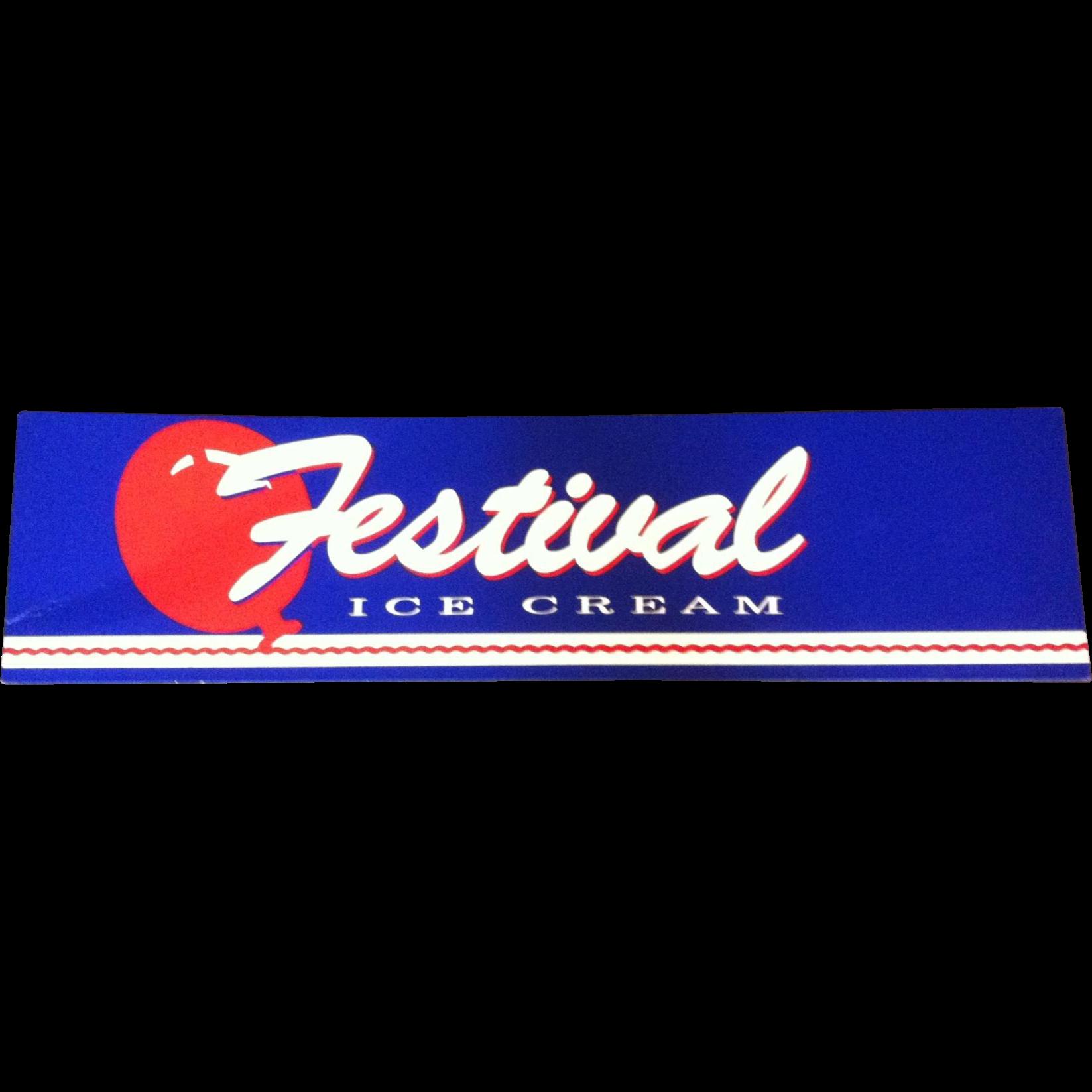 Festival Ice Cream Sign