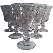 6 Jamestown - Clear Water Goblets ~ Fostoria