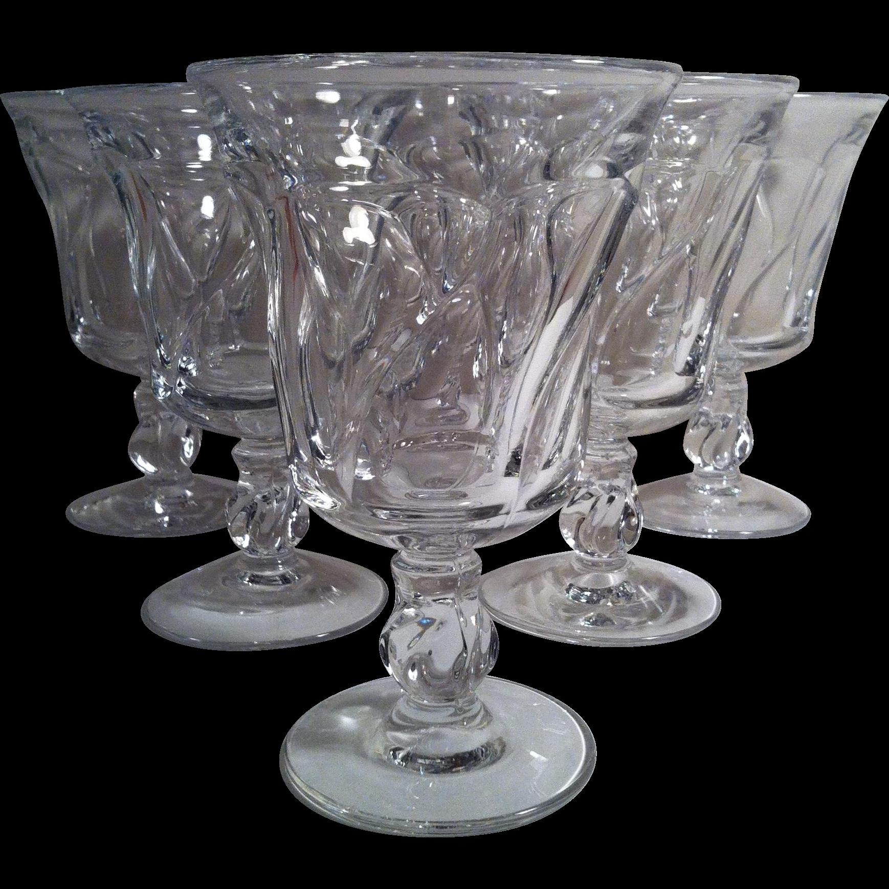 6 Jamestown - Clear Water Goblets ~ Fostoria