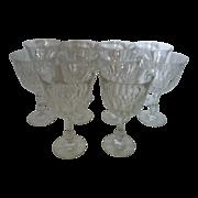 Fostoria  Kimberly Crystal Water / Magnum Wine Glasses set of 10