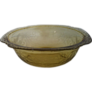 Large Fruit Bowl Amber Madrid by Federal
