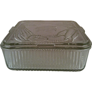 Federal Vegetable Square Glass Refrigerator Dish