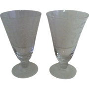 Fostoria Romance Ice Tea Goblets-  set of 2