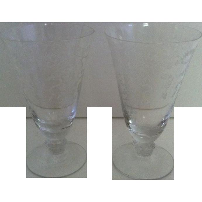 Fostoria Romance Ice Tea Goblets-  set of 2