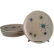 6 Starburst Bread & Butter Plates ~ Franciscan