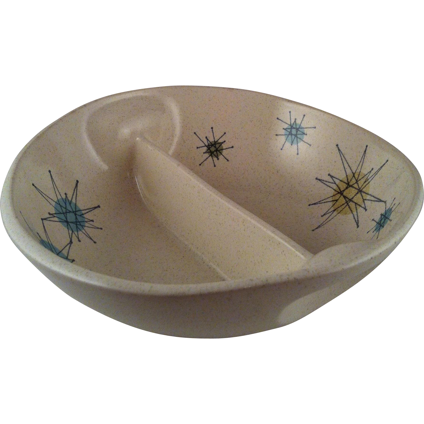 Starburst Divided Vegetable Bowl ~ Franciscan