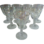 Fostoria Shell Pearl Claret Wine Glasses -set of 8