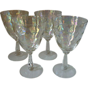 Fostoria Shell Pearl Water Goblets set of 4