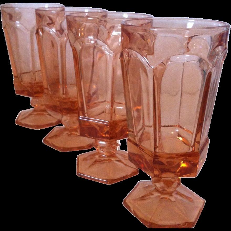 4 Fostoria Virginia Ice Tea Goblets