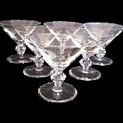 6 Arbor Rose Champagne Sherbet Stems by Glastonbury - Lotus - Red Tag Sale Item