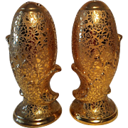 Gold Rose & Daisy Embossed Salt & Pepper