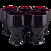 8 Ruby Georgian Tumblers 10 oz ~NOS
