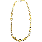 1928 Company Chain & Bead Necklace 31.5 ""
