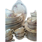 76 Piece Annette Theodore Haviland New York with Serving Pieces