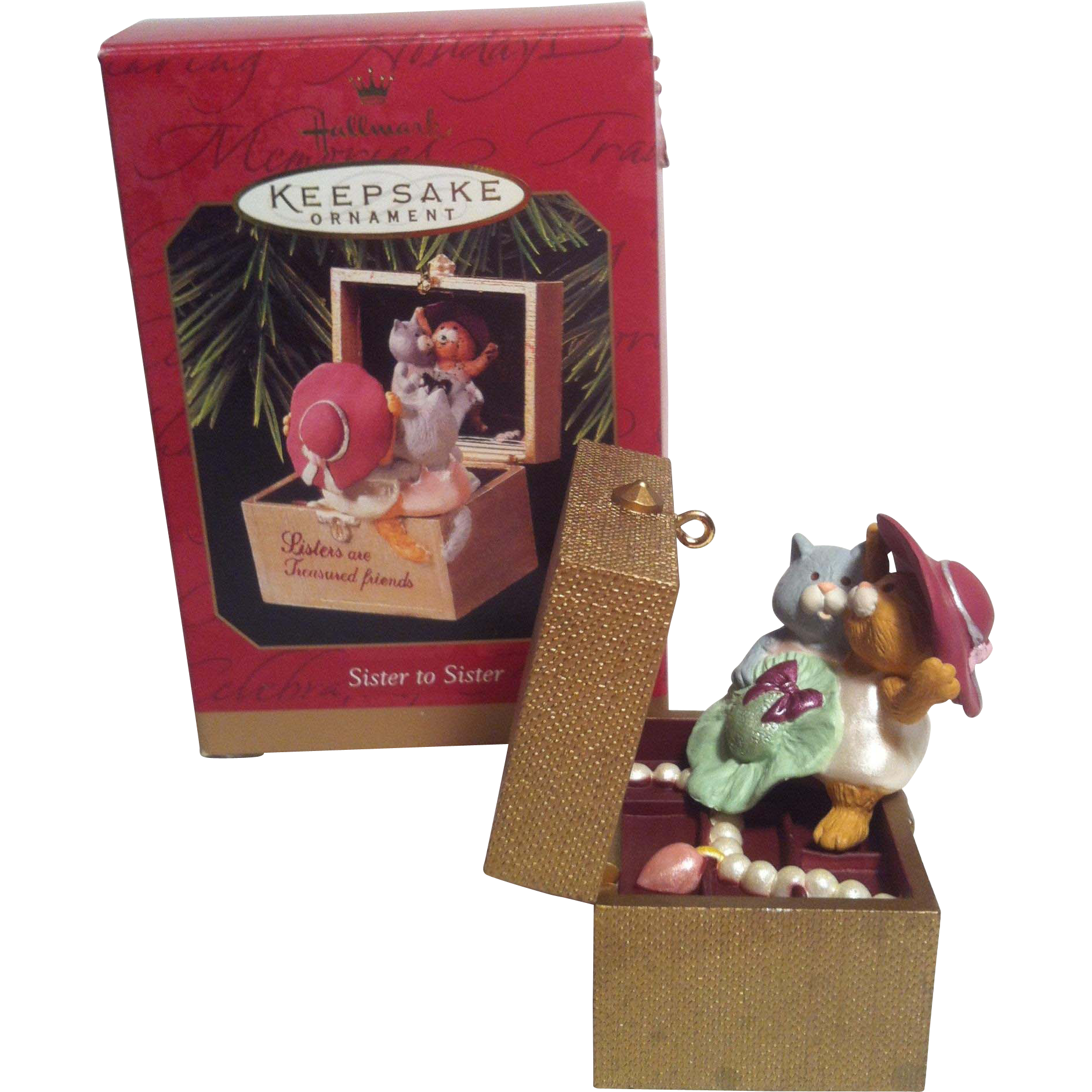 1997 Hallmark Sister to sister Ornament
