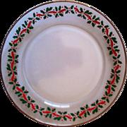 3 Holly & Ribbon Christmas Plates