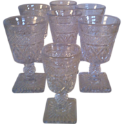 6 Imperial Cape Cod Wine Glasses & Cordial