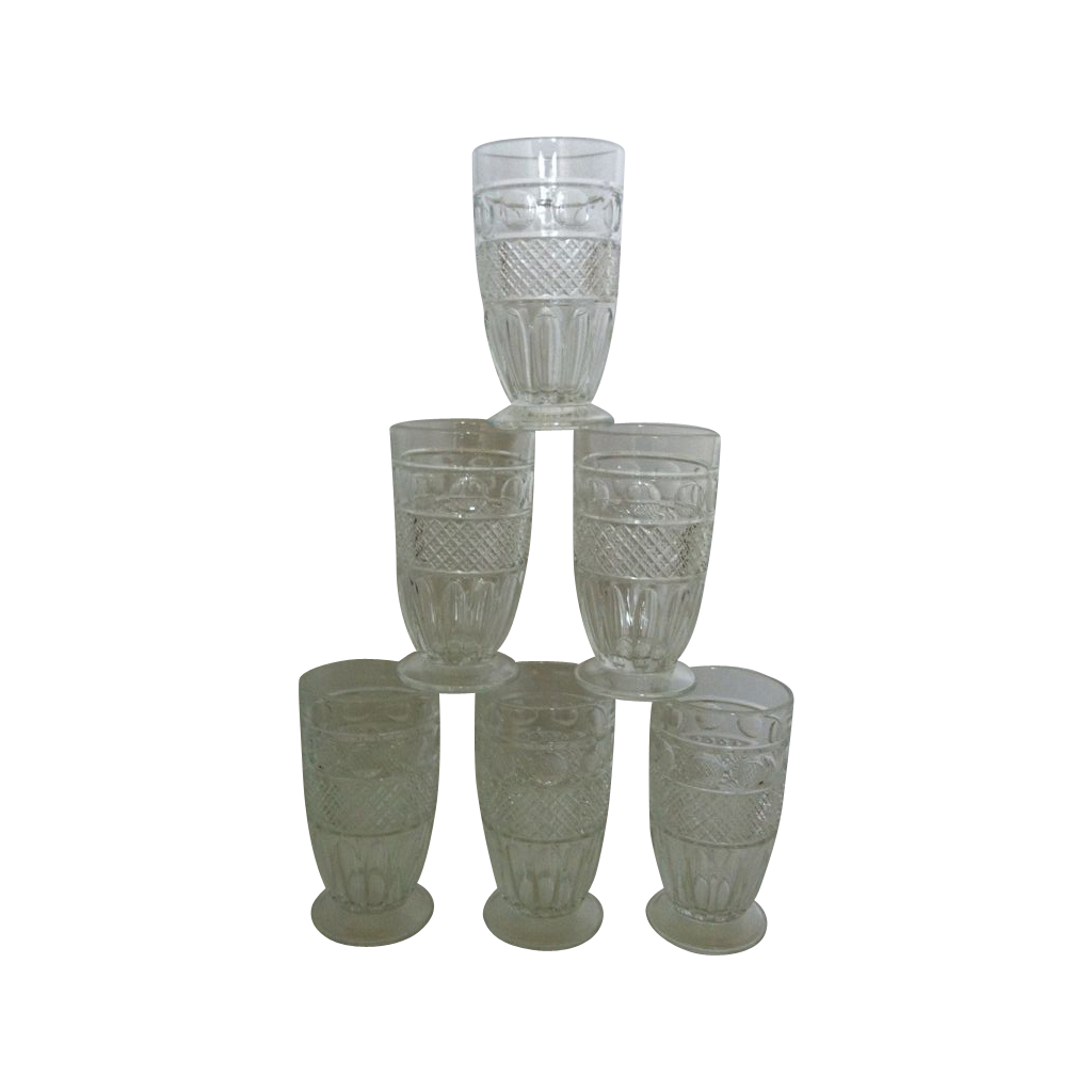 Imperial Glass Tradition Footed Tumblers