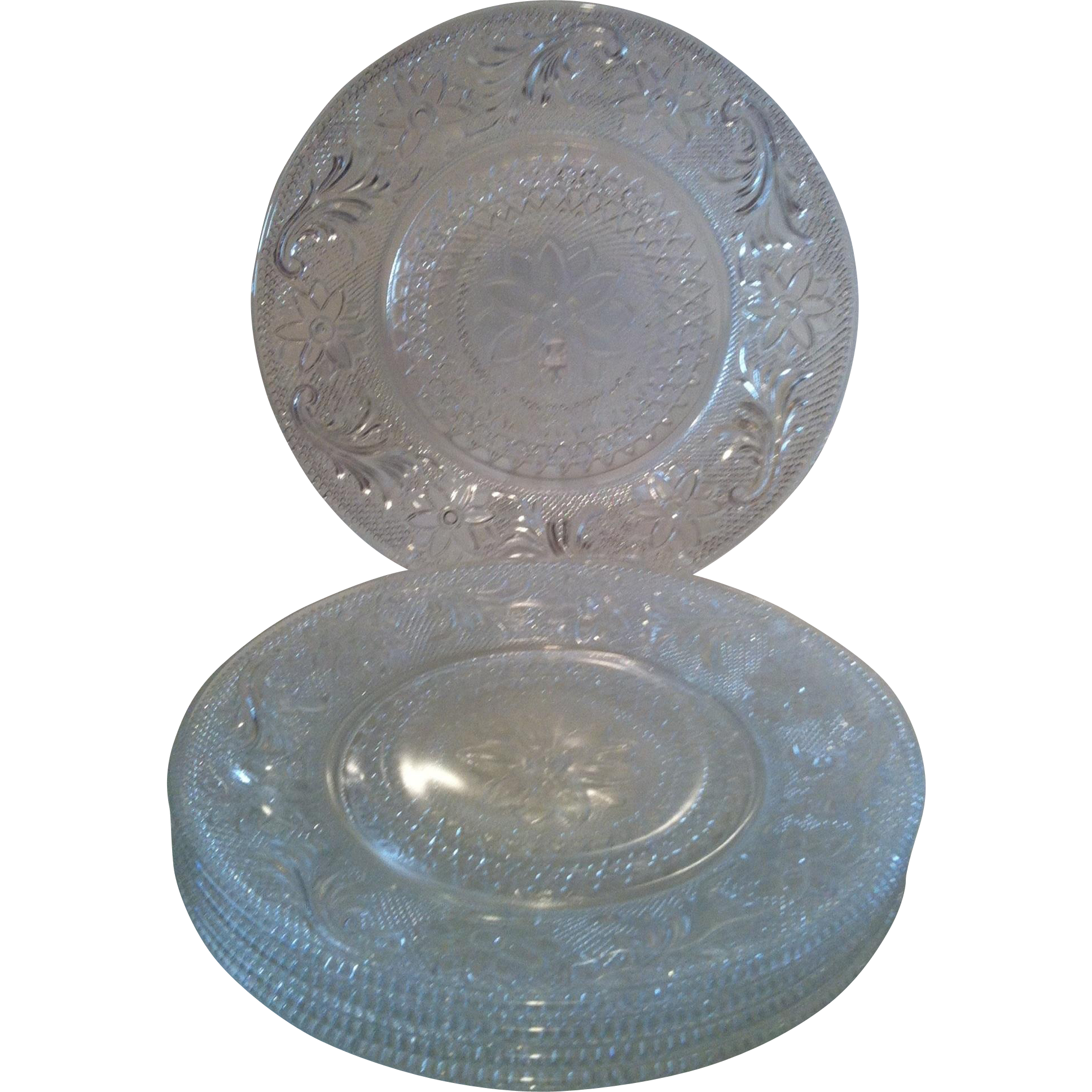 5 ~ Indiana Sandwich Glass Luncheon Plates