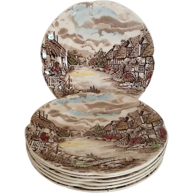 6 Bread & Butter Plates Johnson Brothers Olde English Countryside