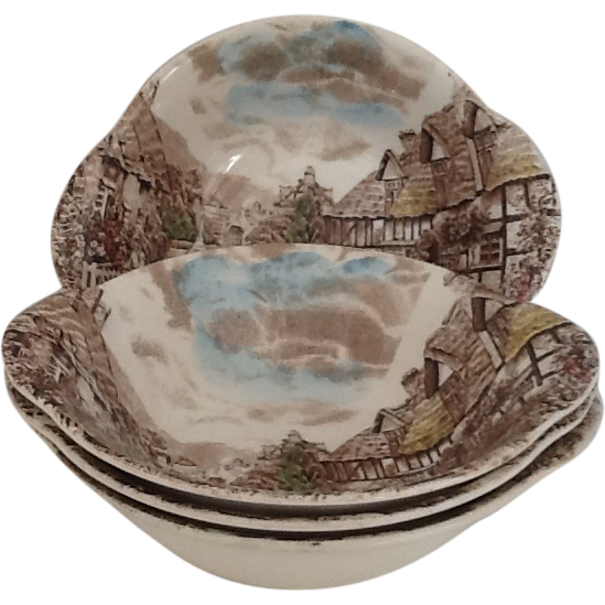3 Lugged Cereal Bowl Johnson Brothers Old English Countryside