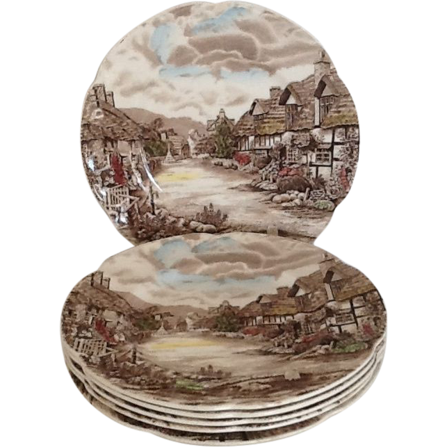 5 Round Salad Plate Olde English Countryside by Johnson Brothers