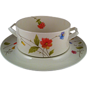Mikasa Just Flowers Gravy & Underplate -