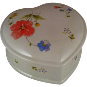 "Mikasa Just Flowers 4 1/2"" Heart Box with Lid"