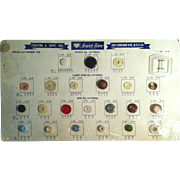 1958 Jewel-Tone Vintage Button Counter Reference Display Chart