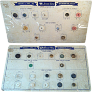 1954-58 Jewel-Tone Vintage Button Counter Reference Display Chart (2)